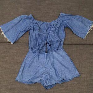 Shorts Romper with Cute Cuts- Zara